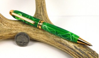 Emerald Water Euro Pen