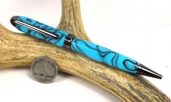 Turquoise Euro Pen