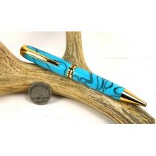 Turquoise Jr Gentleman Twist Pen