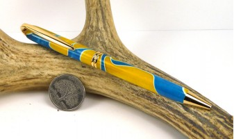 Blue Yellow Swirl Presidential Pen