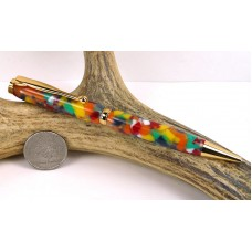 Rainbow Confetti Slimline Pen