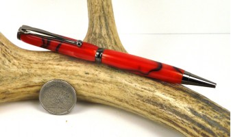 Red Marble Slimline Pen