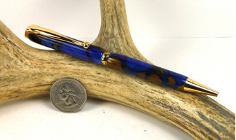 Kings Blue Slimline Pen